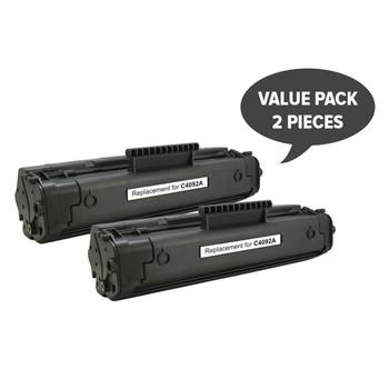 HP Compatible EP-22 C4092A #92A Black Premium Generic Toner x 2