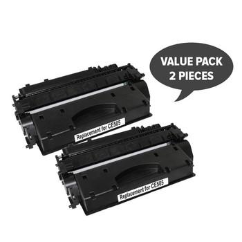 HP Compatible 2 x CE505A #05A Cart 319i Black Premium Generic Toner