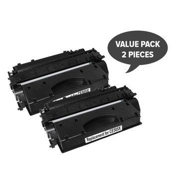 HP Compatible 2 x CE505X HP #05X Cart 319ii Black Premium Generic Toner