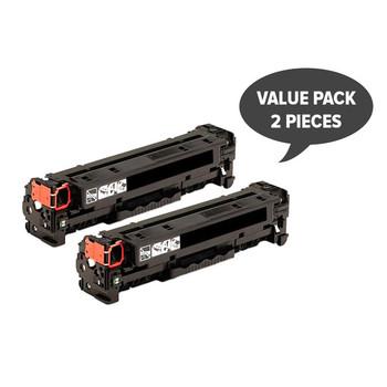 HP Compatible 2 x CC530A #304A CART-318BK CART-418BK Black Premium Generic Toner
