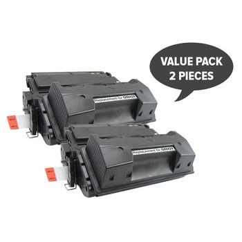 HP Compatible 2 x Q5942X HP #42X 45A Premium Generic Toner