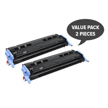 HP Compatible 2 x CART-307 Q6000A #124A Black Premium Generic Toner