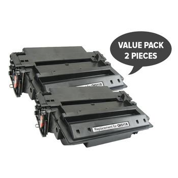 HP Compatible 2 x Q6511X HP #11X Premium Generic Toner Toner