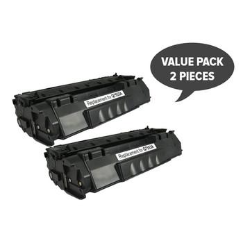 HP Compatible 2 x Q7553A Q5949 CART315i CART 308i Black Premium Toner