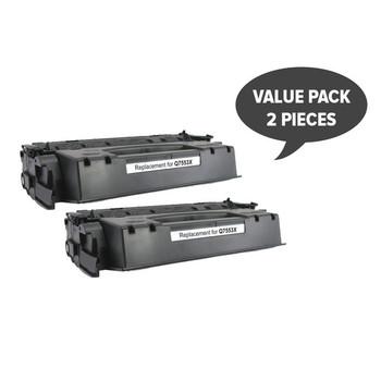 HP Compatible 2 x Q7553X HP #53X CART315ii CART308ii Q5949X #49x Premium Generic Toner