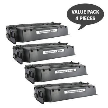 HP Compatible Q7553X HP #53X CART315ii CART308ii Q5949X #49x Premium Generic Toner x 4
