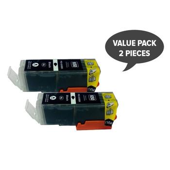 2 x PGI-650XL Pigment Black Compatible Cartridge
