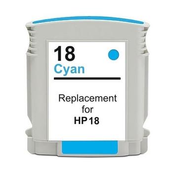 HP Compatible 18 #18 Cyan High Capacity Remanufactured Inkjet Cartridge