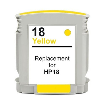 HP Compatible 18 #18 Yellow High Capacity Remanufactured Inkjet Cartridge