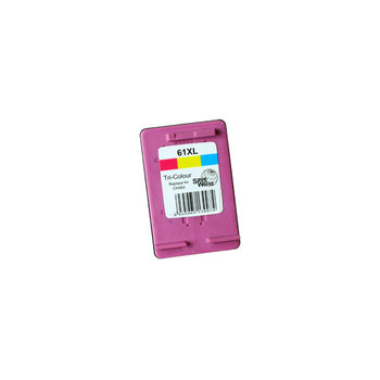 HP Compatible 61XL Color Remanufactured Inkjet Cartridge (New Chip)