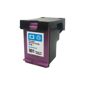 HP Compatible #901XL Color Remanufactured Cartridge (New Chip)