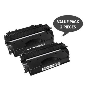 HP Compatible CE505X HP #05X Cart 319ii Black Premium Generic Toner (Set of 2)