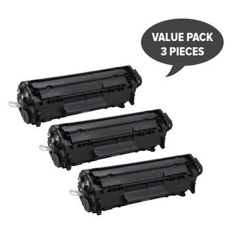 HP Compatible Q2612A #12A Cart-303 Premium Generic Toner (Set of 3)