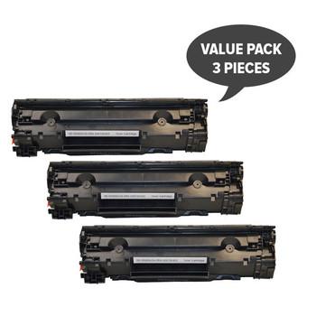 HP Compatible CE285A #85A Cart325 Black Generic Toner (Set of 3)