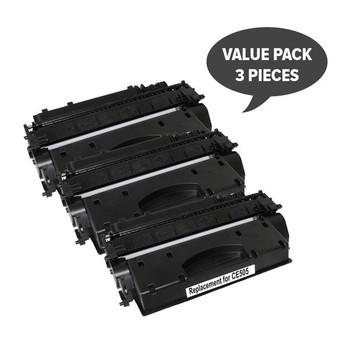 HP Compatible CE505A #05A Cart 319i Black Premium Generic Toner (Set of 3)