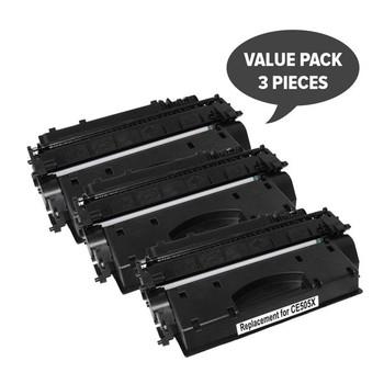HP Compatible CE505X HP #05X Cart 319ii Black Premium Generic Toner (Set of 3)
