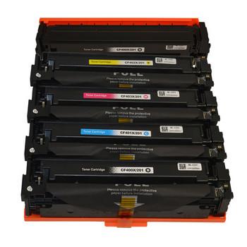 HP Compatible CF400X #201X eries Premium Generic Toner Cartridge PLUS extra Black set (5 cartridges)