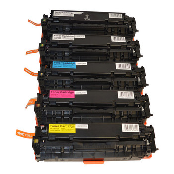 HP Compatible CE410X #305X Series Premium Generic Laser Toner Cartridge PLUS Extra Black Set (5 cartridges)