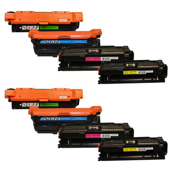 HP Compatible CE250X #504 Series Premium Generic Toner Set X 2