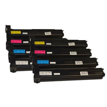 A0DK192 Series Premium Generic Toner Cartridge set x 2 (8 cartridges)