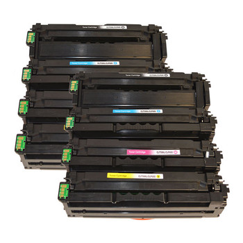 CLT-506L Premium Generic Remanufactured Toner Cartridge Set x 2 (8 cartridges)