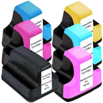 HP Compatible 02XL Compatible Inkjet Cartridge Set 6 Ink Cartridges