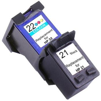 HP Compatible 21XL Remanufactured Inkjet Cartridge Set #1 2 Ink Cartridges