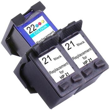 HP Compatible 21XL Remanufactured Inkjet Cartridge Set #2 3 Ink Cartridges