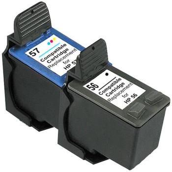 HP Compatible 56 Remanufactured Inkjet Cartridge Set #1 2 Cartridges