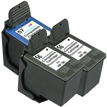 HP Compatible 56 Remanufactured Inkjet Cartridge Set #2 3 Cartridges