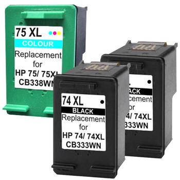 HP Compatible 7XL4 Compatible Inkjet Cartridge Set #2 3 Cartridges