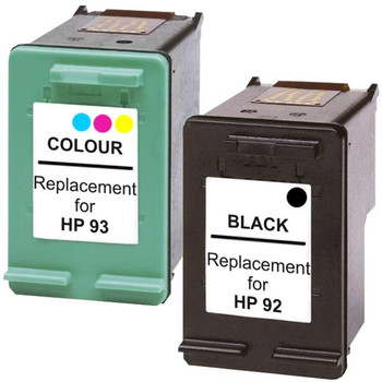 HP Compatible #92 Remanufactured Inkjet Cartridge Set #1 2 Cartridges
