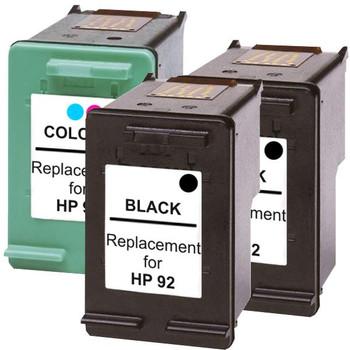 HP Compatible #92 Compatible Inkjet Cartridge Set #2 3 Cartridges