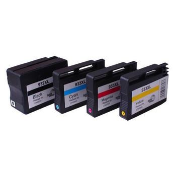HP Compatible 932XL 933XL Remanufactured Inkjet Cartridge Set 4 Cartridges