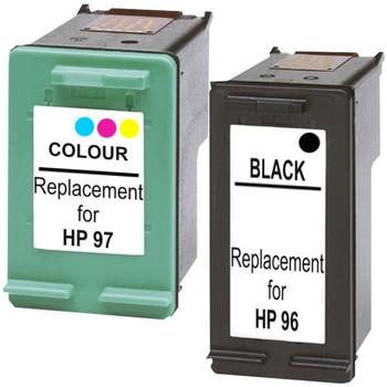 HP Compatible #96 Compatible Inkjet Cartridge Set #1 2 Cartridges