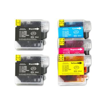 LC38 LC67 Compatible Inkjet Cartridge Set 5 Ink Cartridges [Boxed Set]