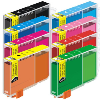 CLI-8 Compatible Inkjet Cartridge Set 8 Ink Cartridges