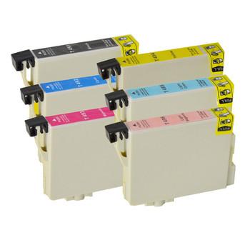 T0491-T0496 Compatible Inkjet Cartridge Set 6 Ink Cartridges