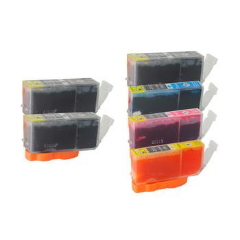 PGI-520 CLI-521 Compatible Inkjet Cartridge Set  6 Cartridges [Boxed Set]