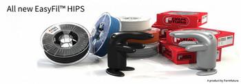 HIPS Filament EasyFil HIPS 1.75mm Black 750 gram 3D Printer Filament