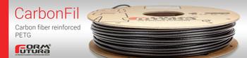 Carbon Fibre PETG Filament CarbonFil 1.75mm Black 500 gram 3D Printer Filament