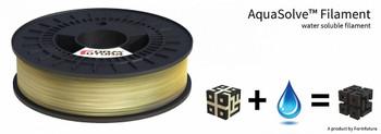 PVA Support Filament AquaSolve - PVA 1.75mm Natural 50 gram 3D Printer Filament