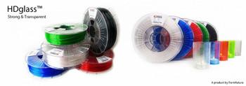 PETG Filament HDglass 1.75mm Fluor Clear Stained 750 gram 3D Printer Filament