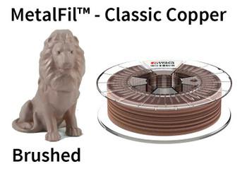 Copper-filled PLA based filament MetalFil 1.75mm Classic Copper 750 gram 3D Printer Filament