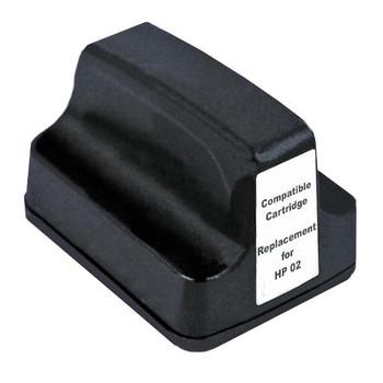 HP Compatible #02 Black High Capacity Remanufactured Inkjet Cartridge