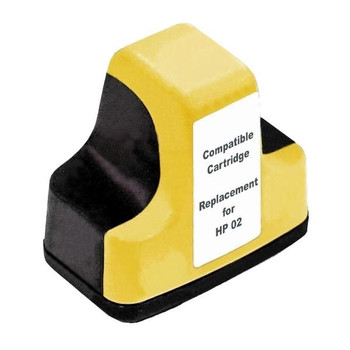 HP Compatible #02 Yellow High Capacity Remanufactured Inkjet Cartridge