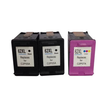 HP Compatible Remanufactured Value Pack (2 x HP62XL Black & 1 x HP62XL Color)