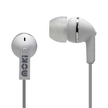 MOKI Dots Noise Isolation Earbuds - WHITE