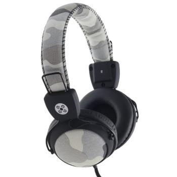 MOKI Camo In-line Mic Grey Headphones