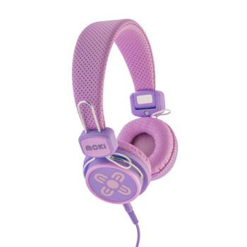 MOKI Kid Safe Volume Limited Pink & Purple Headphones